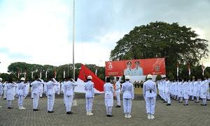 Upacara Penurunan Bendera Merah Putih